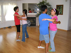 Teens learn to dance