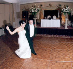 Another bride and groom on the dance floor